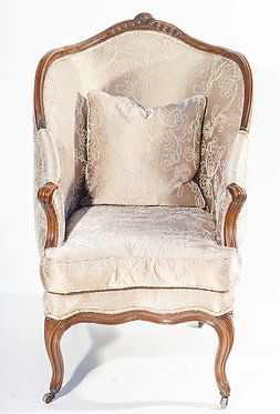 18th c. French Walnut Bergere Chair