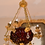 Thumbnail: Late 19th c. - 1900's Red Blown Glass Chandelier with Bronze Detail