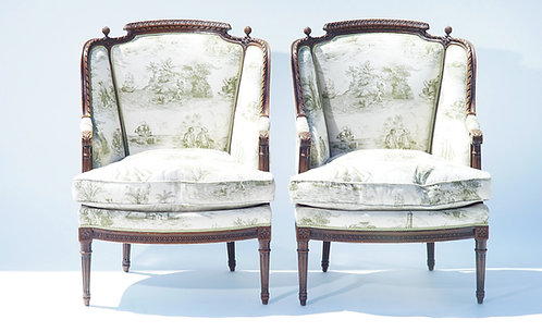 19th c. French Walnut Armchairs