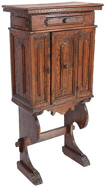 18th c. Italian Walnut Cabinet on Stand