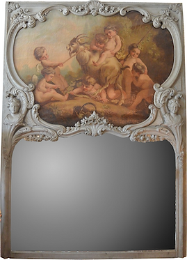 18th-19th c. French Painted Mirror