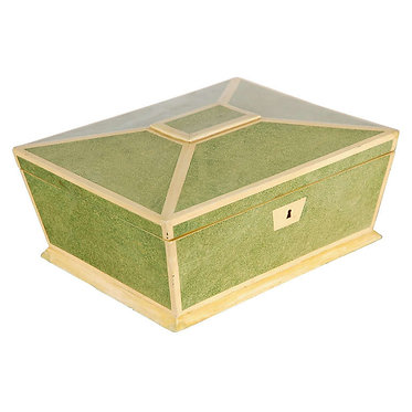 19th c. English hand painted faux Shagreen Box