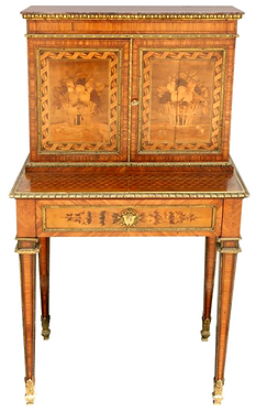 19th c. French Satinwood Writing Desk
