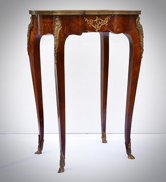 Side Table with Bronze detail