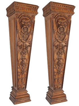 19th c. English Pine Pedestals