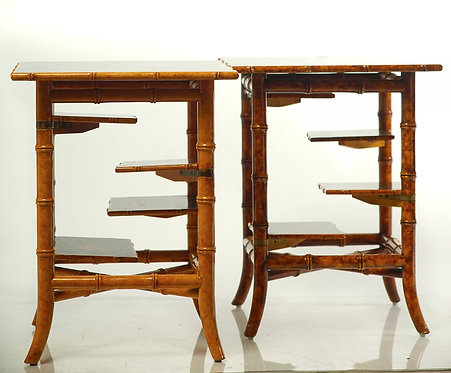 20th c. English Bamboo Style Occasional Tables