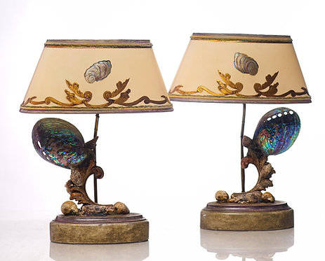 21st c. Hand Made Sea Shell Lamps