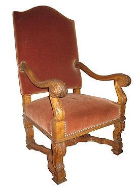 19th c. French Walnut Arm Chair