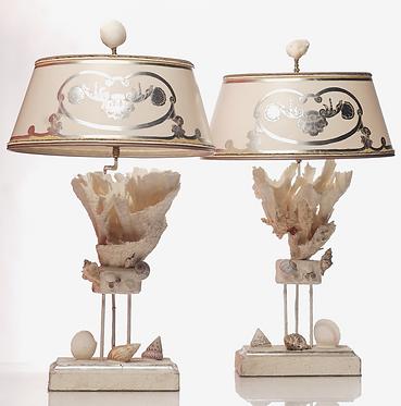21st c.  Coral Lamps