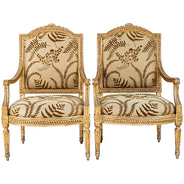18th c. Italian Giltwood Armchairs