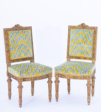 19th c. French Giltwood Side Chairs