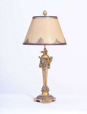19th c. French Bronze Lamp