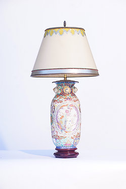 19th c. Chinese Hand Painted Porcelain Lamp