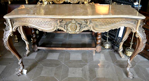 19th c. Italian Console with Marble Top