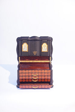 19th c. French Parquetry and Marquetry Jewel Box