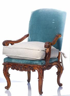 18th c. Italian Carved Walnut Arm Chair