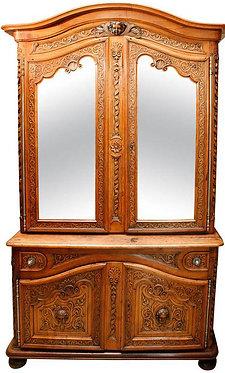 18th c. French Walnut Cabinet