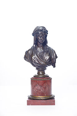 19th c. French Bronze Bust