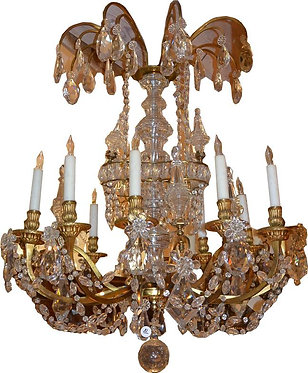 19th c. Twelve light Marie Antoinette Dore Bronze
