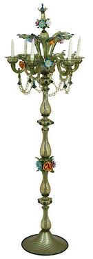 Mid-Century Murano Standing Candelabra Floor Lamp