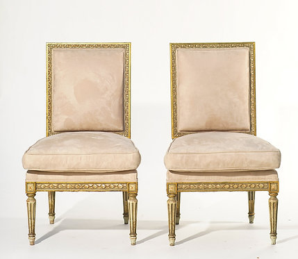 19th c. French Giltwood Chairs