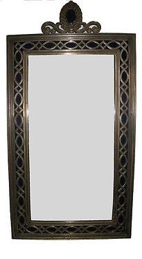 29th c. Oscar Bach Bronze with Cobalt Mirrors