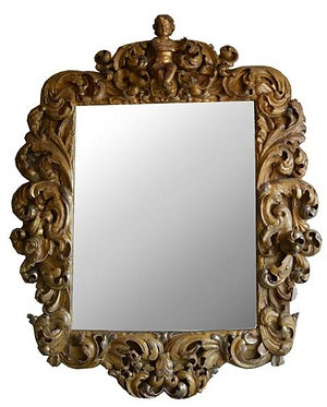 18th c. Italian Carved Mirror SOLD