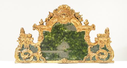 18th C. French Regence Giltwood Mirror / Overdoor