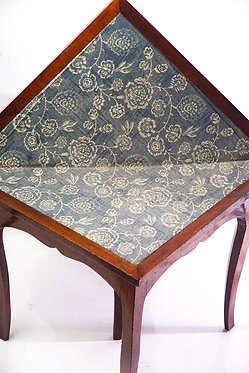 18th c. French walnut Triangle flip top Games Table