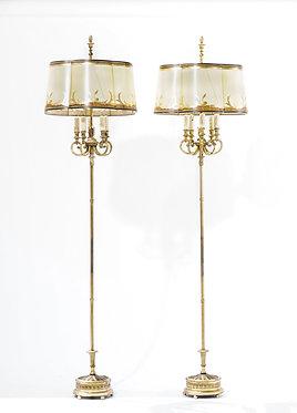 1900s Doré Bronze Floor Lamps E.F.Caldwell