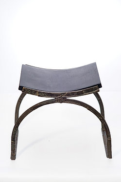 20th c. Bronze and Wood Bench