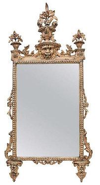 18th c. Italian Painted Giltwood Mirror