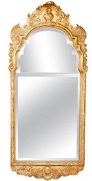 19th c. English Giltwood & Gesso Mirror
