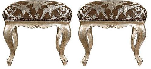 18th c. Italian Silver-leafed Stools