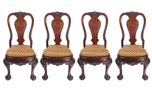 19th c. Queen Anne-style Chairs (4)