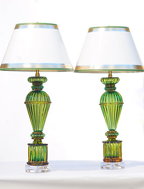20th c. Murano Glass Lamps