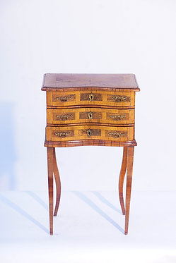 19th c. Italian 3-drawer Side table