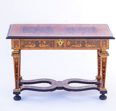 19th c. English Inlaid Table
