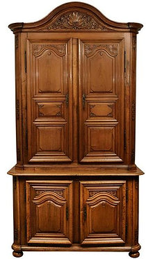 18th c. French Regence Walnut Cabinet