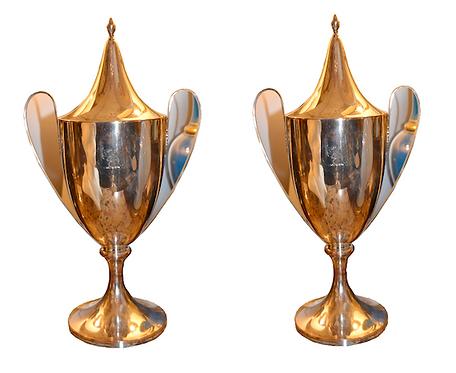 19th c. Sheffield Silver Urns