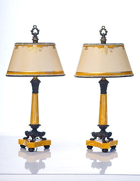 1900's French Empire Candle Lamps