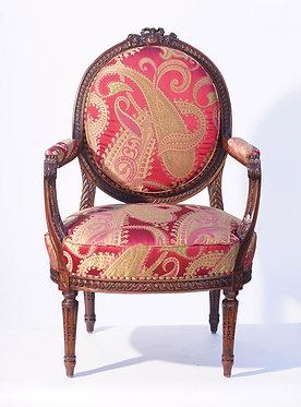 19th c. French Walnut Armchair