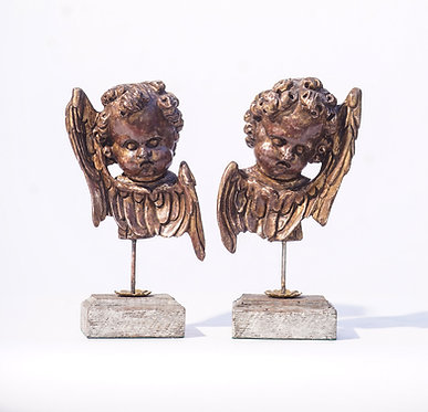 20th c. Italian Style Wood Cherub Fragments