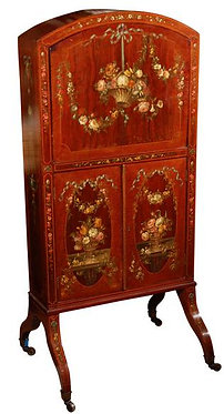19th c. English Drop Front Writing Desk