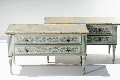 Italian Painted Oversized Commodes