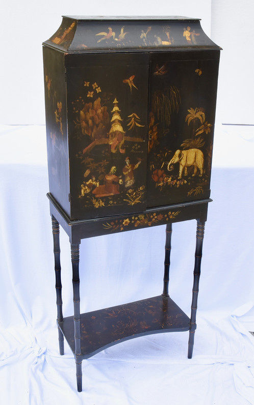 English Chinoiserie Cabinet