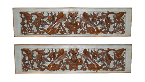 18th c. Italian Carved Walnut Mounted Fragments