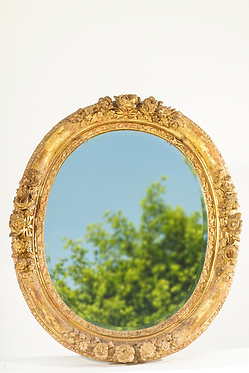 18th c. French Carved Giltwood Mirror