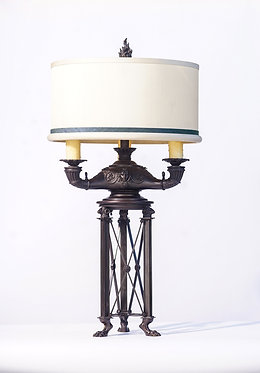 20th c. French Empire Bronze Lamp