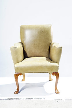 20th c. English Leather Armchair